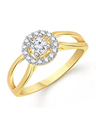 VK Jewels Fashion Finesse Gold And Rhodium Plated Ring- FR1449G [VKFR1449G]