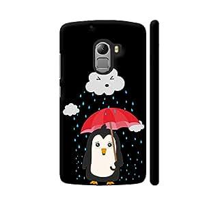 Colorpur Penguin In The Rain Designer Mobile Phone Case Back Cover For Lenovo Vibe K4 Note   Artist: Torben