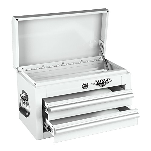 Viper Tool Storage V218Mcwh 18-Inch 2-Drawer 18G Steel Mini Tool Chest, White front-82739