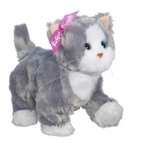 FurReal Friends Lulus Walkin Kitties Bootsie Pet (Grey/White)
