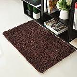 "KLOUD City @ Dark Brown Anti-slip Microfiber Bedroom Kitchen Area Rug Carpet (24"" x 16"")"