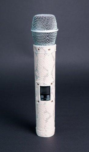StyleMyMic Microphone Sleeve Ivory Python (Shure Beta 87A, Weiss)