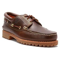 Timberland Men\'s Classic 3 Eye Lug Boat Shoe,Brown,10 M US