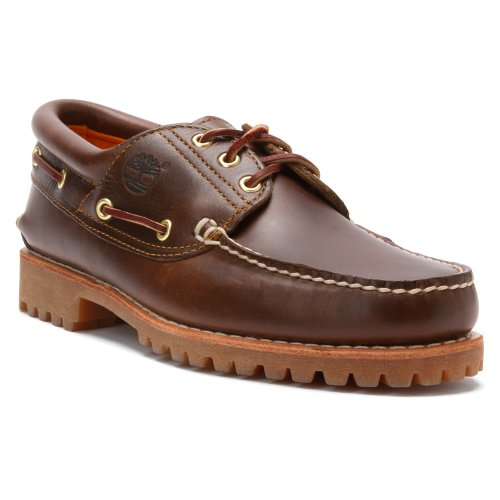 Timberland Men's Authentics 3 Eye Classic Lug Brown Pull Up 14 M (Shoe Polish Timberland compare prices)