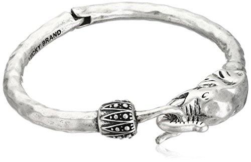 Lucky Brand Silver Elephant Cuff Bracelet