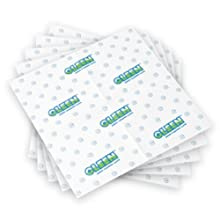 Gleen 3817 Green Cleaning Cloth 16-inch by 16-inch, 5 Pack