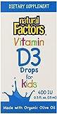 Natural Factors Vitamin D3 400iu for Kids Liquid, 0.5 Fluid Ounce