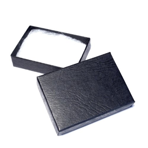 Black gift box for brooches, pendants or large earrings.