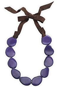 Faire Collection Fair Trade Tagua Strand Necklace (Ultra Violet)