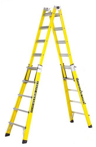 Little Giant 10722lg Type 1a 300 Pound Duty Rating Fiberglass Ladder 22 Foot