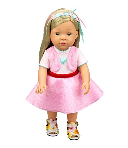 [HappyBB Baby Doll Clothes Skirt Fits 14 inches American Girl Doll - Pink Dress] (2pc Child Cheerleader Costumes)