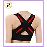 Presadee Women S Hunchback Posture Shape Corrector Upper Shoulder With Push Up Bra Chest Support L XL Beige Black... - B0160LI99Q