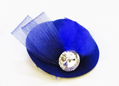 TheTickleToe Baby Kids Girls Small Hat Clip with Feather and Stone Studded Party Hair Accessory