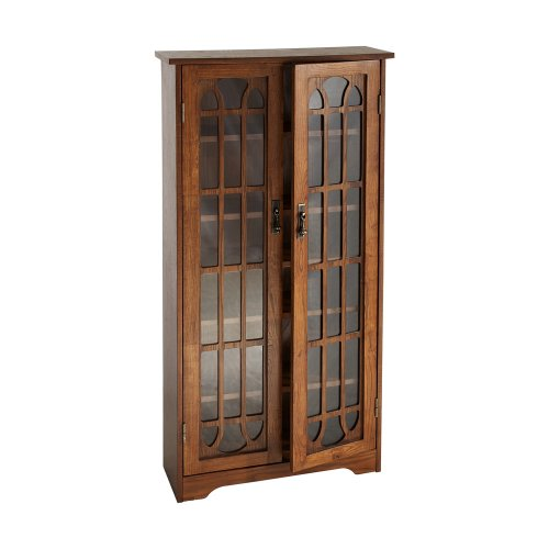 Window Pane Media Cabinet - Oak (Tall Wood Cabinet With Shelves compare prices)