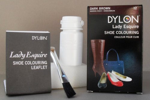 Dylon leather shoe and accessories dye colour dark brown
