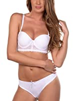 JUST FOR VICTORIA Conjunto Ropa Interior Moli (Blanco)