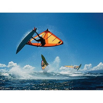 Wind Surfers Canvas Art Picture Type: Contemporary Mount With Beveled Edge front-742139
