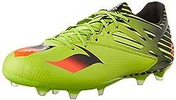 adidas Performance Men\'s Messi 15.2 Soccer Shoe,Semi Solar Slime/Solar Red/Black,8.5 M US