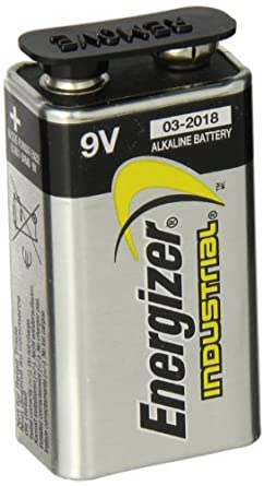 Energizer ENE EN22 9 Volt Industrial Alkaline Battery (Pack of 12)