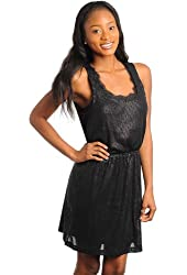 G2 Fashion Square Women's Sequin Lace Sleeveless Dress