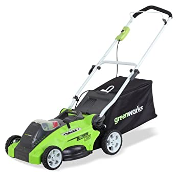 Powered by innovation, not by gas, this Green works 16-Inch G-MAX 40V Lithium-Ion Battery Cordless Mower delivers all the power you need to get your yard looking pristine without the hassle of spilling gas or extension cords. The simple 2 step safety...