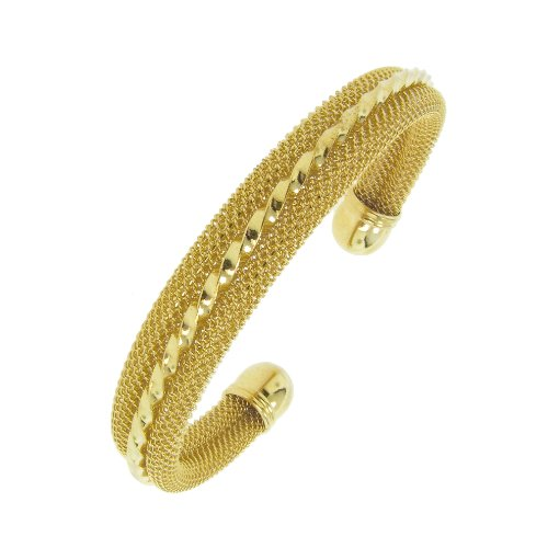 Twist Cuff in Gold Tone