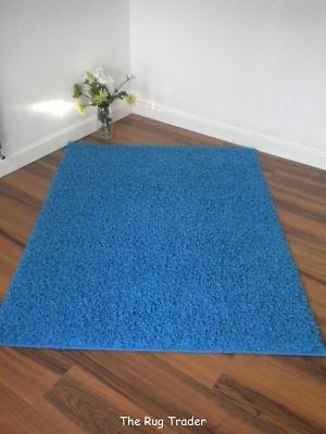 Aqua Shag Rug Blue 160cm x 220cm