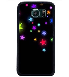 PrintDhaba Stars D-2364 Back Case Cover for SAMSUNG GALAXY S6 EDGE (Multi-Coloured)