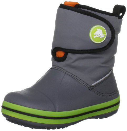Crocs - Kids Unisex Crocs Chmlns Crocband Gust BtK Shoes, Size: 8 M US Toddler, Color: Charcoal/Black
