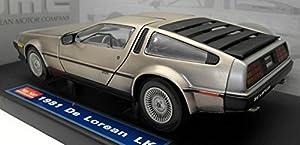 1981 De Lorean LK, Silver - Sun Star 2701 - 1/18 Scale Diecast Model Toy Car