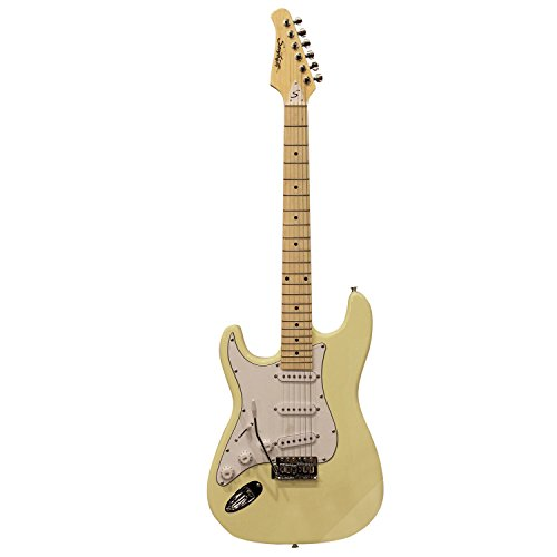 Sawtooth Left Handed St Style Electric Guitar Citron Vanilla Cream W/ White Pickguard