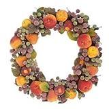 "16"" Pre-Lit Sugared Fruit & Berrie Christmas Wreath"