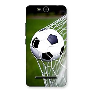 Enticing Goal Green Back Case Cover for Micromax Canvas Juice 3 Q392