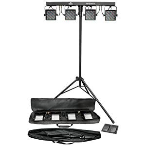 CHAUVET MINI-4BAR LED DJ Stage Wash Light System + Bag