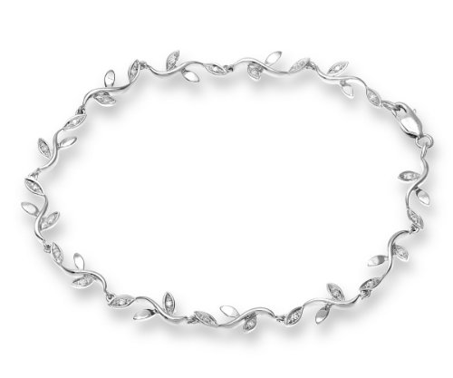 Naava 9 ct White Gold Women's 0.1 ct Diamond Bracelet