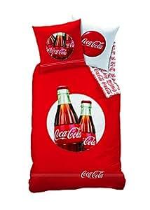 CTI 39848 Housse de Couette 140 x 200 cm + Taie d'Oreiller 63 x 63 cm Coca Cola Cool