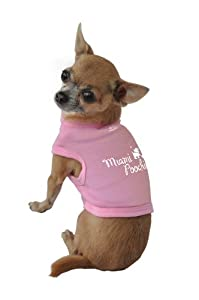 Ruff Ruff and Meow Dog Tank Top, Miami Poochie, Pink, Extra-Small