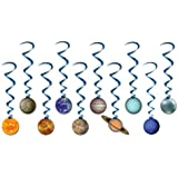 Solar System Whirls Party Accessory (1 count) (10/Pkg)