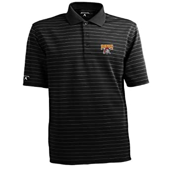 MLB Mens Pittsburgh Pirates Elevate Desert Dry Polo by Antigua