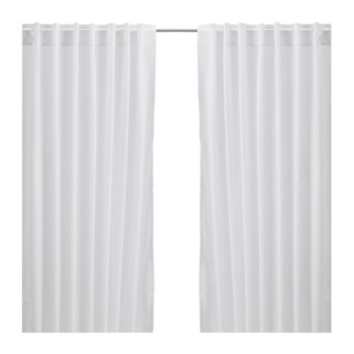 Ikea Vivan Pair of Curtains in White Color 57 by 98 1/2 inches