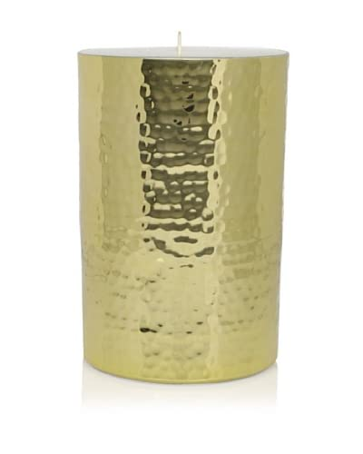 Barclay Butera Naoura Hammered Metal Pillar Candle Holder, Gold As You See