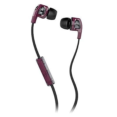 Skullcandy Smokin Buds 2 with Mic Earphones/Earbuds Stereo Headphone - Plum/Black