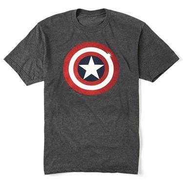 並行輸入品 マーベル キャプテンアメリカ シールド Tシャツ 男性用 MARVEL CAPTAIN AMERICA SHIELD T-SHIRT MENS GRAY