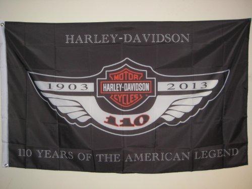 HARLEY-DAVIDSON motorcycle HARLEY-DAVIDSON 110TH YEAR ANNIVERSARY 3x5 FLAG BANNER