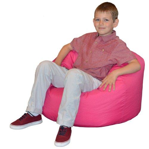 Gilda® Kinder Sitzsack ROSA Wasser & schmutzabweisend gefüllt mit Polystyrol Bohnen