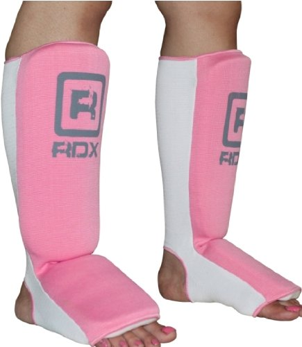 RDX Ladies Shin instep pad protector foot MMA Guard boxing Muay Thai Pink UFC-Small