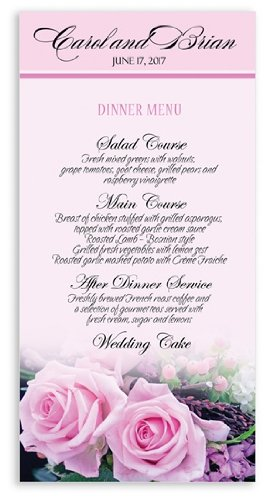 Baby Shower Menu Cards front-1068876