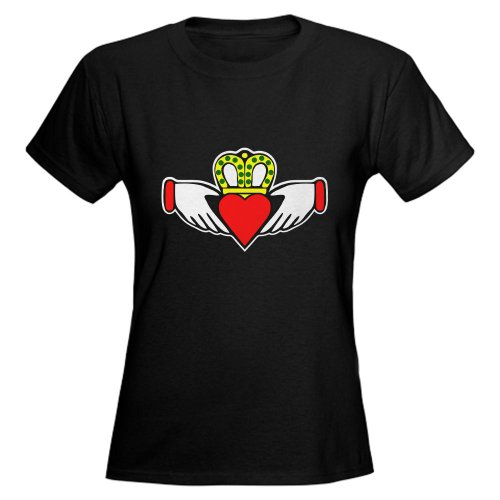 Irish Claddagh Ring Holiday Women's Dark T-Shirt