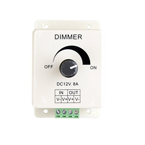 Hitlights Led Light Strip Dial Dimmer - Single Color, Wall-Mount - 5 To 24V Dc, 2A Max