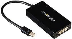 StarTech.com MDP2VGDVHD Mini DisplayPort to VGA/DVI/HDMI Adapter Converter